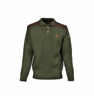 Percussion Embroidered Hunting Sweater with Turtleneck Collar