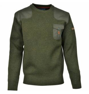 Percussion Embroidered Round-Neck Hunting Sweater