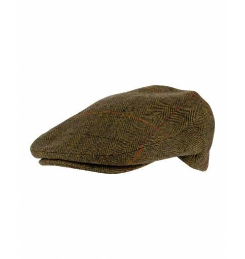 JACK PYKE WOOL BLEND FLAT CAP BROWN