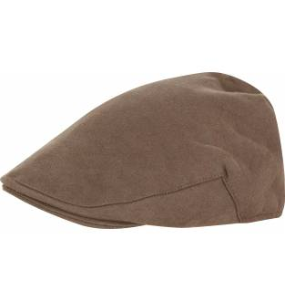 Jack Pyke Moleskin Flat Cap in Brown