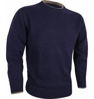 Jack Pyke Ashcombe Crew Knit Pullover in Navy