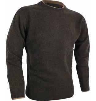 Jack Pyke Ashcombe Crew Knit Pullover in Dark Olive