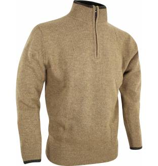 Jack Pyke Zip Knit Jumper in Barley