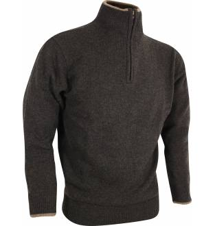 Jack Pyke Zip Knit Jumper in Olive