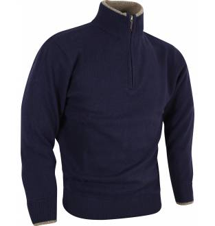 Jack Pyke Zip Knit Jumper in Navy