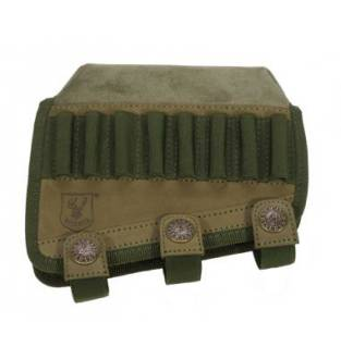 Riserva Cordura Green Cheek Piece/ Comb Raiser With Bullet Loops
