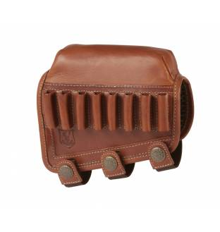 Riserva Brown Leather Cheek Piece/Comb Raiser