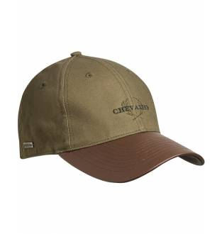 Chevalier Cotton Cap Faux-Leather Brim Green