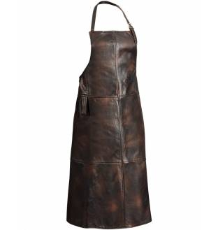 Chevalier Butcher Leather Apron Brown