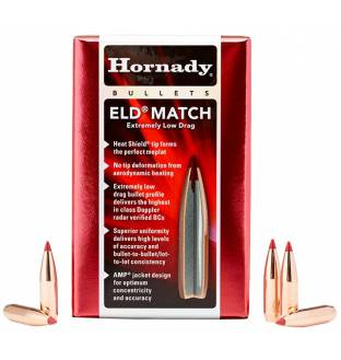 "Hornady ELD Match 22/.224"" 52gr BT (Box of 100)"