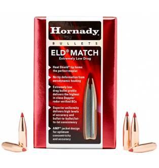 """Hornady ELD Match 22/.224"""" 52gr BT (Box of 100)"""