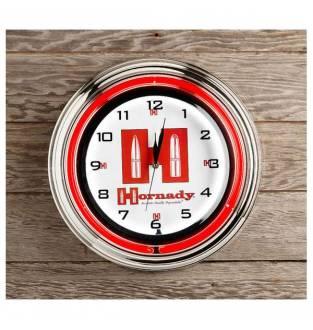 """Hornady 17"""" Neon Clock"""