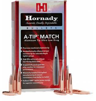 """Hornady A-Tip Match 6.5mm/.264"""" 153gr (Box of 100)"""