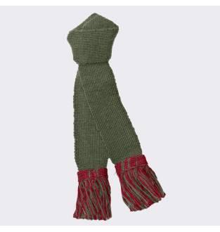 Pennine Premium Wool Garter - Olive Ruby
