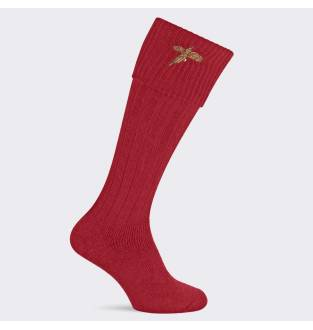 Pennine Stalker Burgundy Pheasant Sock