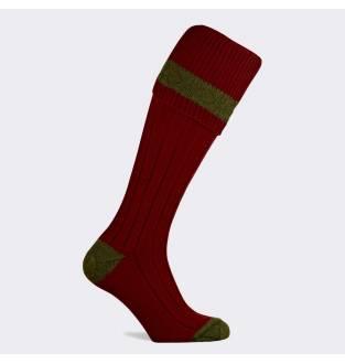 Pennine Byron Burgundy Olive Sock