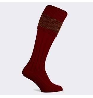 Pennine Penrith Olive Burgundy Sock