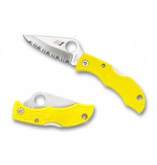 Spyderco Ladybug 3 Salt LWT Plain Edge Yellow FRN 1.93""
