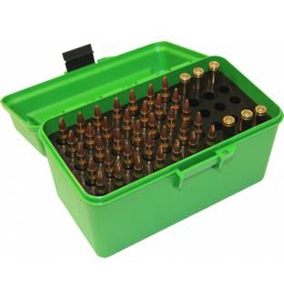 MTM Case-Gard H50RS Rifle Ammo Box with Handle Green