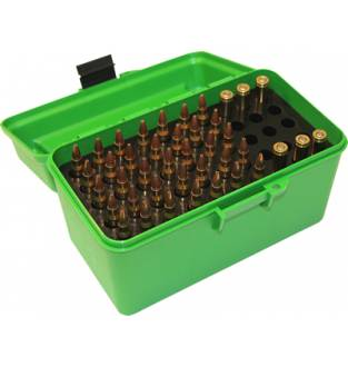 MTM Case-Gard H50RL Rifle Ammo Box with Handle Green