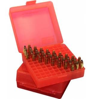 MTM Case-Gard P100-22M-29 Pistol Ammo Box Clear Red