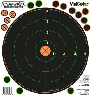 Champion Visicolor 100 Yd Sight-in Target 5 Pack w/30 pasters, Card