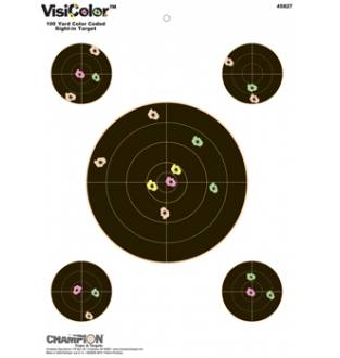 Champion Visicolor 100 yd Sight-in Target 10 Pack, Card