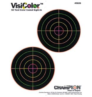 """Champion Visicolor 5"""" Double Bull Target 10 Pack, Card"""