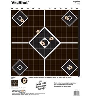 Champion Visishot Sight-in Target 10 Pack, Card