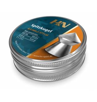 H&N Spitzkugel (Pointed) .177 Cal Tin of 500