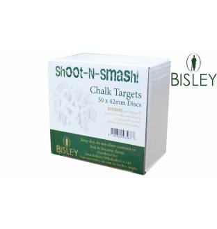 Bisley Chalk Targets Shoot-N-Smash 42mm Box of 50