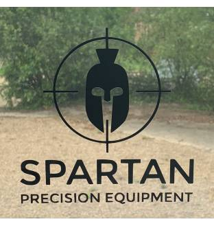 Spartan Logo Sticker Black