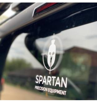 Spartan Logo Sticker White