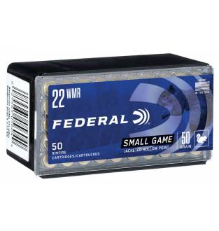 Federal .22 WMR Game-Shok 50gr Copper Jacketed Hollow Point  (Box of 50)