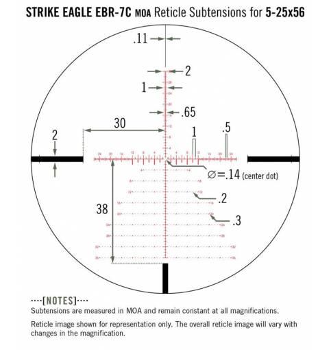 Vortex Optics Strike Eagle 5-25x56 FFP EBR-7C