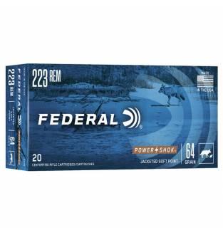 Federal .223 Power-Shok 55gr Soft Point (Box of 20)