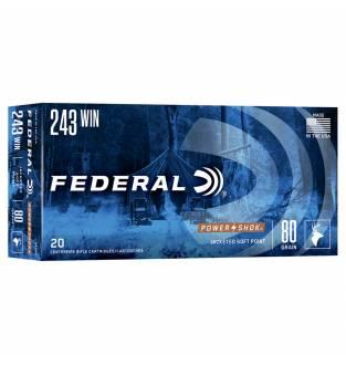 Federal .243 Power-Shok 80gr Speer Hot-Cor Soft Point (Box of 20)