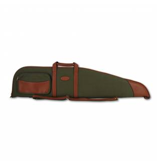 Maremmano Green Canvas And Leather Scoped Rifle Slip